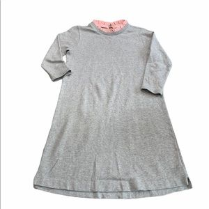 CrewCuts Sweatshirt Dress with Pink Ruffle trim